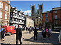 SK9771 : Castle Square, Lincoln on Graduation Day by Richard Humphrey