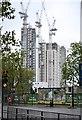 TQ3278 : Blocks of flats rising at 'Elephant Park', Walworth, London by Robin Stott