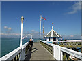 SZ3590 : The end of the wooden pier at Yarmouth (IOW) by Steve  Fareham
