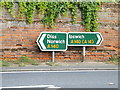 TM1166 : Roadsigns on the A140 The Street by Adrian Cable