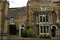 TL8564 : Bury St Edmunds: houses embedded in the abbey ruins by Christopher Hilton