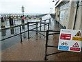 SZ5993 : A wet day on Ryde pier by Steve  Fareham