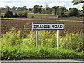 TM0968 : Grange Road sign by Adrian Cable