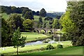 SK2570 : The River Derwent and the Three Arch Bridge at Chatsworth by Graham Hogg