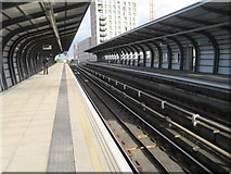 TQ4180 : Pontoon Dock DLR station, Greater London by Nigel Thompson