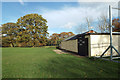 SP0776 : Cricket pavilion, Wythall Park, Silver Street, Wythall by Robin Stott