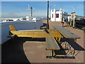 TR1768 : Amy Johnson bench, Herne Bay by Paul Harrop