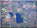 SP0080 : Frankley and Bartley Reservoirs from the air by M J Richardson