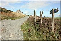 SH3368 : Redundant stile on the Anglesey Coastal Path by Jeff Buck