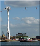 TQ3980 : Cable car at Greenwich Peninsula by Stephen Richards