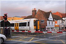 TR1458 : Train crossing St Dunstan's Street, Canterbury by Jim Barton