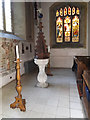 TQ5793 : Font of St Peter's Church by Adrian Cable