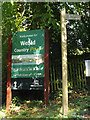 TQ5693 : Weald Country Park sign by Adrian Cable