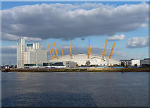 TQ3880 : Former Millennium Dome, Peninsula Way by Stephen Richards