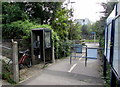 ST6178 : Grey phonebox outside Filton Abbey Wood railway station by Jaggery