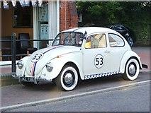TQ6057 : Vintage 1973 Volkswagen Beetle, High Street, Borough Green by Chris Whippet