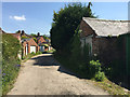 SP3165 : Private road with used and disused garages, rear of Avenue and York Roads, Leamington by Robin Stott