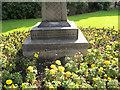 SE2634 : Detail of Celtic cross in Gotts Park by Stephen Craven