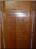 SD8789 : St Margaret, Hawes: panel memorial (4) by Basher Eyre