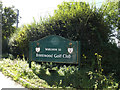 TQ5596 : Brentwood Golf Club sign by Adrian Cable