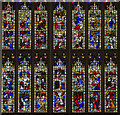 ST7564 : Detail of East Window, Bath Abbey by Julian P Guffogg