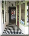 SP2864 : Tiled passage to a rear car park, Swan Street, Warwick by Robin Stott