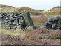 SE0711 : Boundary stone on Deer Hill, Meltham by Humphrey Bolton