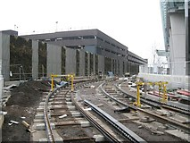 SP0787 : Midlands Metro extension – tracks laid by Snow Hill station, Birmingham by Robin Stott