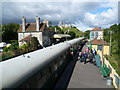 SY9682 : Activity at Corfe Castle station by Marathon