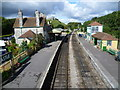 SY9682 : Corfe Castle station from the footbridge by Marathon