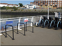 NZ3567 : Cycle racks, South Shields Ferry Terminal by Oliver Dixon