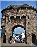 SO5012 : Tower On The Monnow Bridge by Deborah Tilley