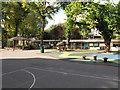 TQ2581 : Hallfield Primary School from playground by David Hawgood