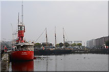 SJ3490 : A lightship in Canning Dock, Liverpool by Oliver Mills