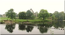 SE0754 : Stepping stones at Bolton Abbey by steven ruffles