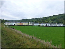 NZ8204 : Row of cottages at Esk Valley by Raymond Knapman