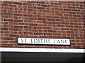 TQ6794 : St.Ediths Lane sign by Adrian Cable