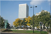 TQ2780 : View of Marble Arch Tower from Cumberland Gate by Robert Lamb