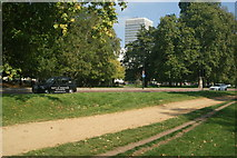 TQ2780 : View of Marble Arch Tower from Hyde Park #2 by Robert Lamb