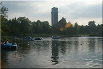 TQ2780 : View of Hyde Park Barracks from the path by the Serpentine #6 by Robert Lamb