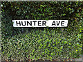 TQ6195 : Hunter Avenue sign by Adrian Cable