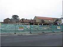 NT9953 : Demolition of former Kwik Save store, seen from Walkergate (1) by Graham Robson