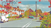 TQ2367 : London (Merton), 2001: Lower Morden, Queen Mary Avenue by Ben Brooksbank