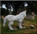 TL8563 : Wolf sculpture, St Mary's churchyard, Bury St Edmunds by Christopher Hilton