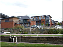 SO8453 : Riverside apartments at Diglis Basin, Worcester  by Jeff Gogarty