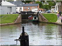 SO8453 : Diglis Top Lock from the Bottom Lock, Worcester by Jeff Gogarty