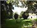 TM1957 : St.Mary's Churchyard & footpath by Adrian Cable