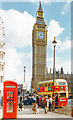 TQ3079 : 'Big Ben' from Parliament Square, 1996 by Ben Brooksbank