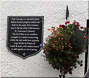 SP2764 : Park Cottage plaque, Warwick by Jaggery