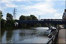 TL1998 : Footbridge over the River Nene by N Chadwick